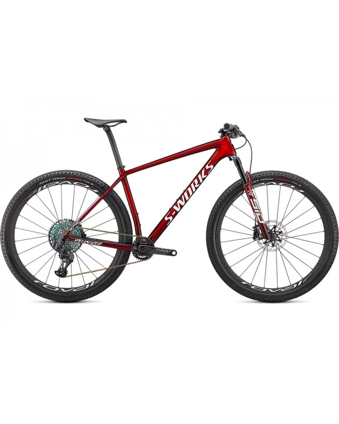 Epic HT S-Works MTB Specialized 2021 Gloss Red Tint Fade Over Brushed Silver/Tarmac Black/White W/Gold Pearl