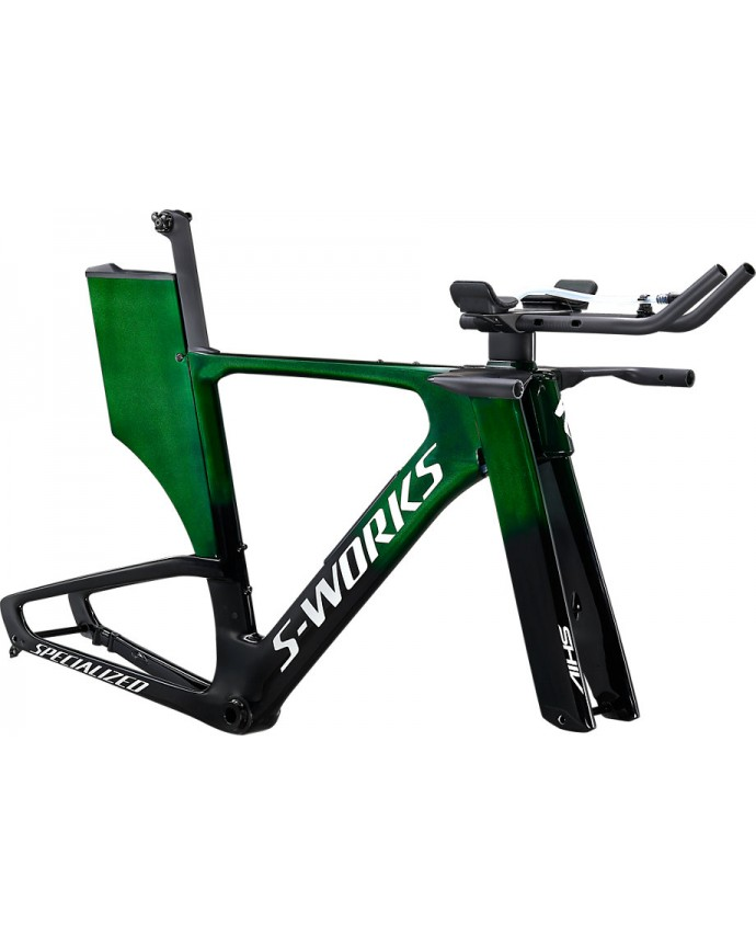 Shiv S-Works Modulo Disco Set Cuadro Specialized 2021 Green Tint Over Spectraflair/Flake Silver