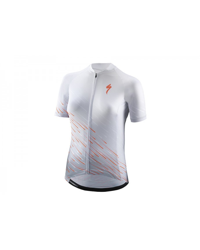 SL Maillot SS Specialized Woman White/Acid Lava