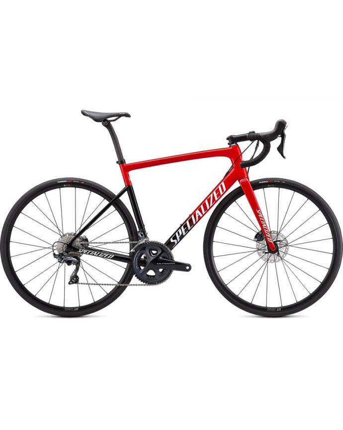 Tarmac SL6 Comp Bicicleta Carretera Specialized 2021 Red Tint Fade/White with Gold Pearl