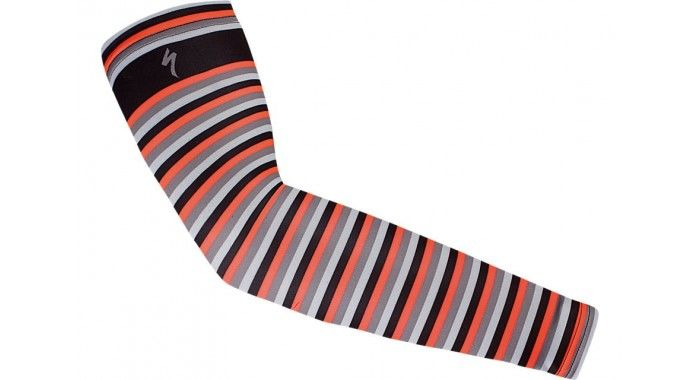 THERMINAL FULL STRIPE PRINTED ARM WARMER BLK RKTRED ANTH L