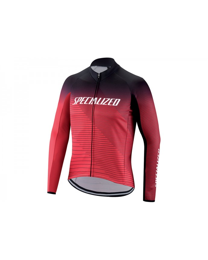 Therminal Rbx Comp Logo Team Jersey LS Specialized Black/True Red