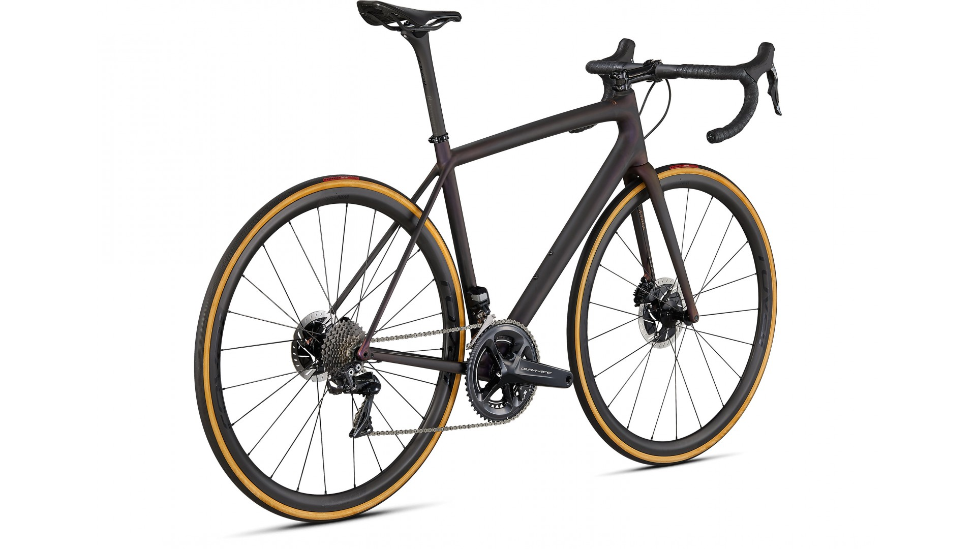 Aethos S-Works DI2 Specialized 2021 Satin Carbon/Red Gold Chameleon/Bronze Foil