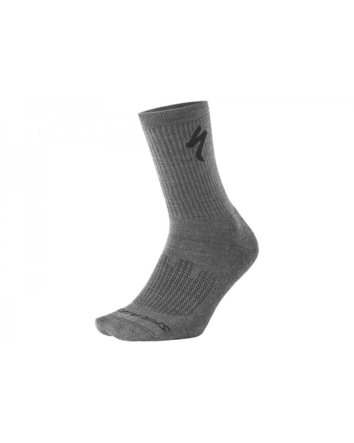 Merino Midweight Calcetines Altos Specialized Charcoal