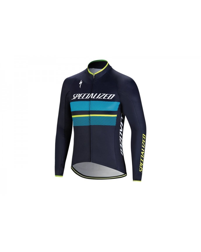 Therminal Rbx Comp Logo Maillot Specialized Azul/Azul Neon 1 IBKBike.es