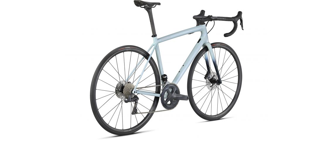 Aethos Expert Ultegra Di2 Specialized 2021 Gloss Ice Blue/Teal Tint/Flake Silver