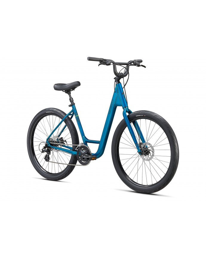 Roll Sport Low Entry Bicicleta Urbana Specialized 2021 Gloss Teal Tint / Hyper Green / Satin Black Reflective