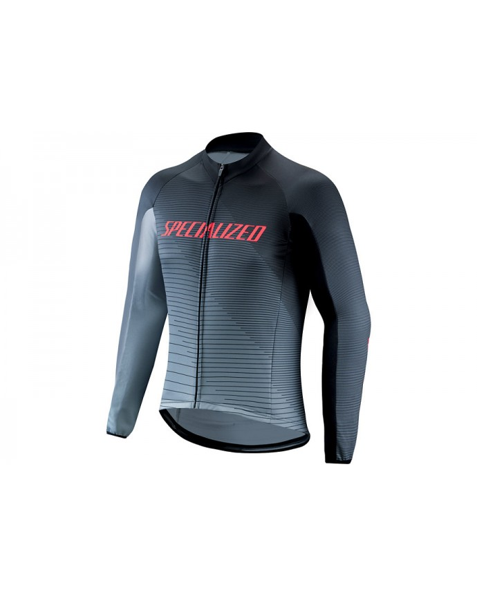 Therminal RBX Comp Logo Team LS Jersey Specialized Negro/Grey/Red