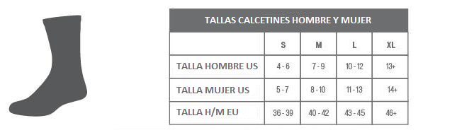 Tallas calcetines Specialized